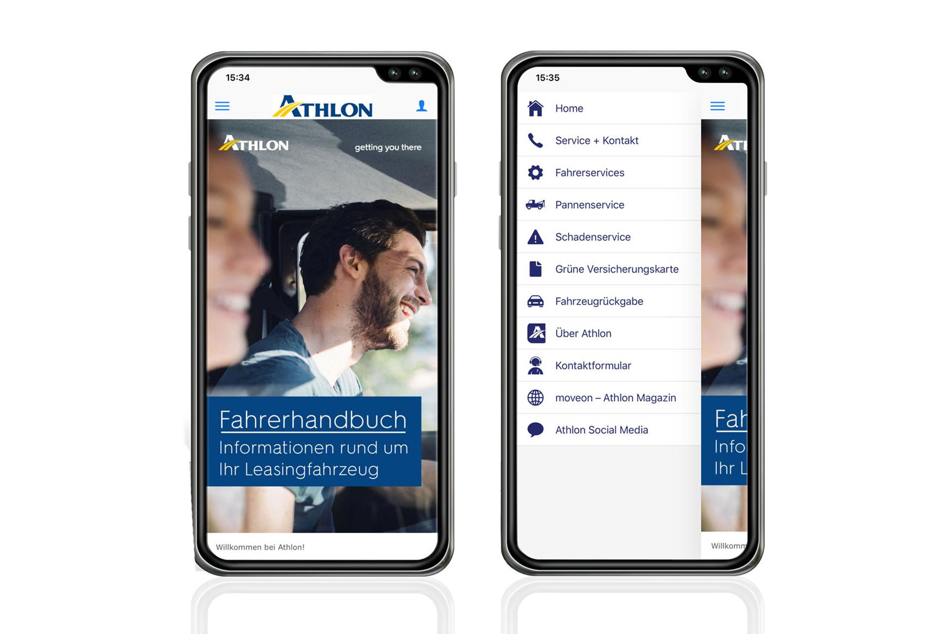 Athlon digitales Fahrerhandbuch als App